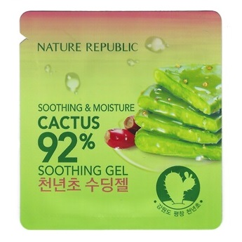 Пробник<br /> NATURE REPUBLIC Soothing & Moisture Cactus 92% Soothing Gel