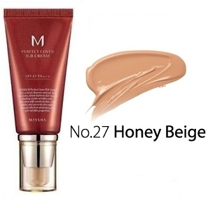 MISSHA M Perfect Cover<br /> BB Cream SPF42 <br />цвет 27 Honey Beige