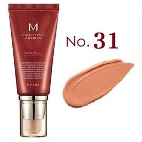 MISSHA M Perfect Cover<br /> BB Cream SPF42 <br />цвет 31 Golden Beige