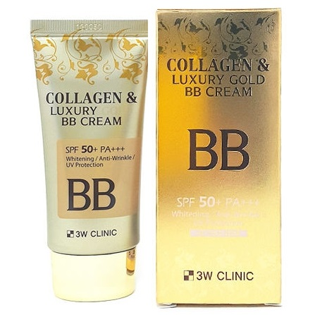 3W CLINIC Collagen & Luxury Gold<br /> BB Cream SPF50