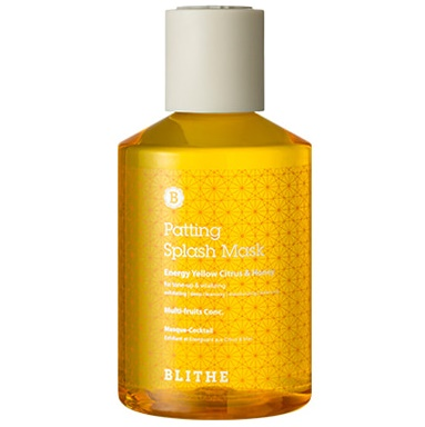 Сплэш-маска энергетическая<br /> BLITHE Patting Splash Mask Energy Yellow Citrus & Honey