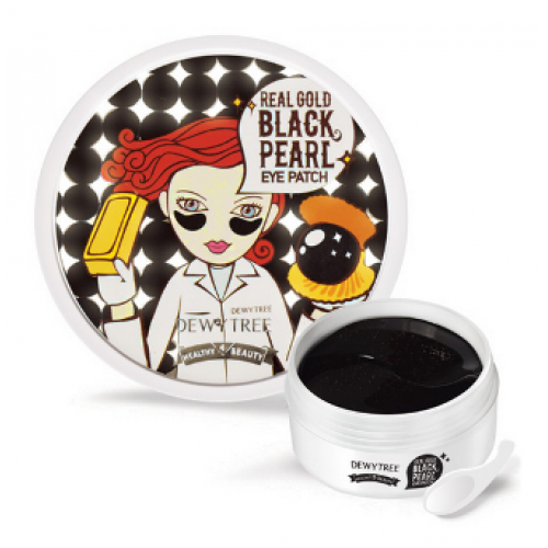 Маска (патчи) для кожи под глазами <br />DEWYTREE Real Gold Black Pearl Eye Patch