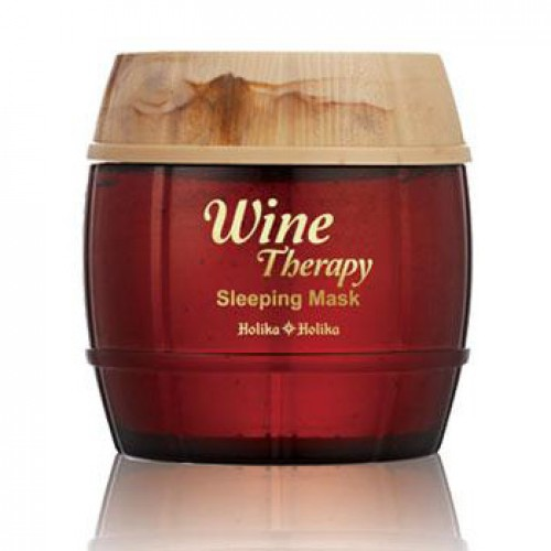 Маска ночная обновляющая <br />HOLIKA HOLIKA Wine Therapy Sleeping Mask<br /> RED WINE