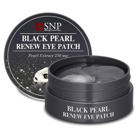 ћаска (патчи) дл¤ кожи под глазами <br />SNP Black Pearl Renew Eye Patch