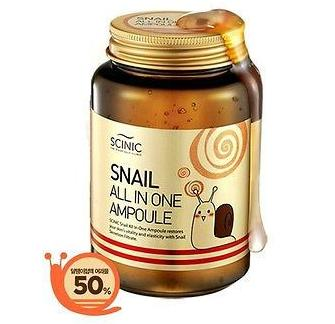 Сыворотка с экстрактом улитки <br />SCINIC Snail All in One Ampoule