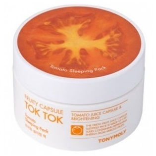 Маска ночная с томатом<br /> TONY MOLY Fruity Capsule Tok Tok Tomato Sleeping Pack