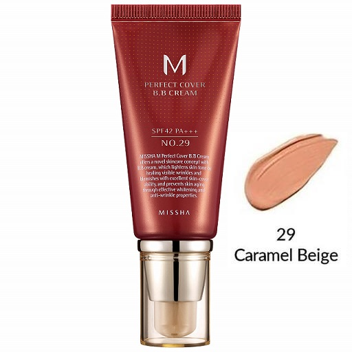 MISSHA M Perfect Cover<br /> BB Cream SPF42 <br />цвет 29 Caramel Beige