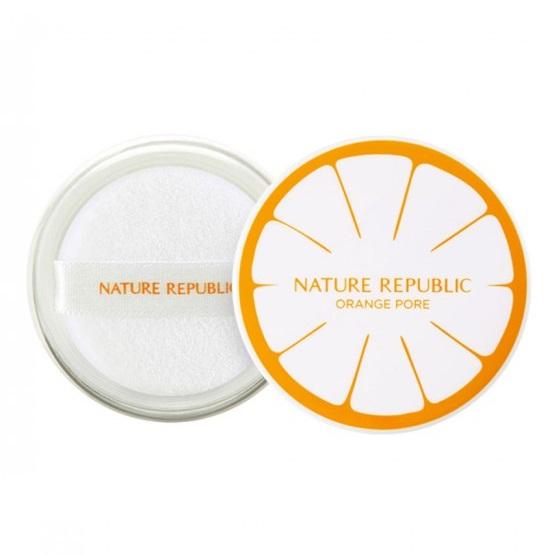 Рассыпчатая пудра для минимизации пор<br /> NATURE REPUBLIC Botanical Orange Pore Powder