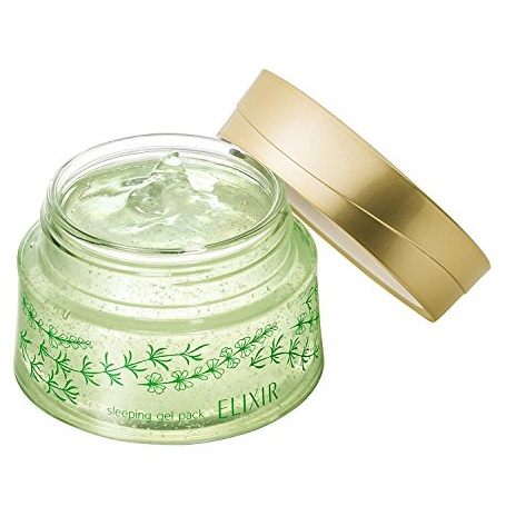 Гель-маска ночная оздоравливающая<br /> SHISEIDO Elixir Sleeping Gel Pack GREEN AROMAT
