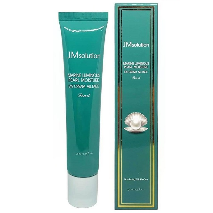 Крем для лица и глаз с жемчугом<br /> JMSOLUTION Marine Luminous Pearl Moisture Eye Cream All Face Pearl